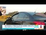 Detienen a 3 presuntos ladrones en carriles centrales de Circuito Interior | Noticias con Francisco