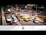 Taxistas bloquean la circulación en Villahermosa, Tabasco | Noticias con Francisco Zea