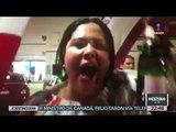Candidata de Morena festejó con una botella de champán | Noticias con Ciro Gómez