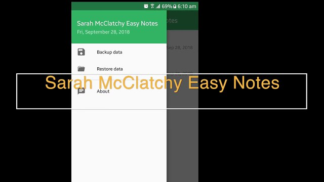 Sarah McClatchy Easy Notes by Sarah McClatchy