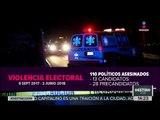 110 políticos asesinados en México ¿qué tan violento es el país? | Noticias con Yuriria Sierra