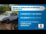 Seis integrantes de una familia fueron asesinados a balazos en Oaxaca