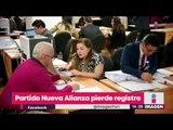 Ya es oficial: Nueva Alianza perdió el registro | Noticias con Yuriria Sierra