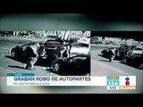 Graban robo de autopartes en Santa Úrsula Coapa   Noticias con Francisco Zea
