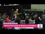 Pasan lista a los 43 normalistas desaparecidos   Noticias con Yuriria Sierra