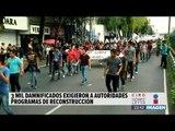 Damnificados marcharon al Zócalo para exigir apoyos para la reconstrucción   Noticias con Ciro
