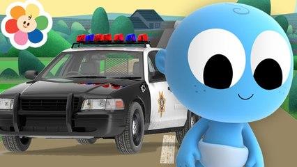 Veículos em Cores Para Crianças | Carro da Polícia e Trem Com Goo Goo | Aprendendo Com BabyFirst