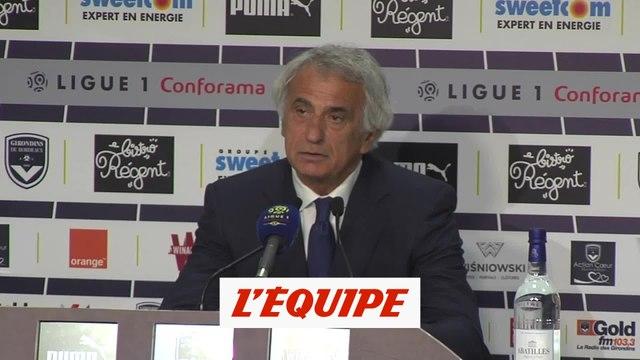 Halilhodzic «Il nous a tout manqué» contre Bordeaux - Foot - L1 - Nantes
