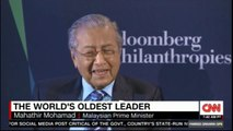 Malaysian Prime Minister, Mahathir Mohamad The World's oldest leader. #Malaysia #FareedZakaria #News #CNN