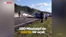 ABD'de bir uçak otoyola acil iniş yaptı