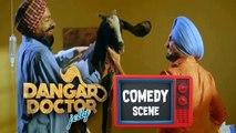 Dangar Doctor Jelly   Punjabi Movie   Comedy Scene   Ravinder Grewal treats Rajjo   Yellow Music