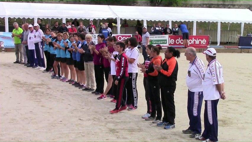 Présentation des finales Super 16 féminin et F2, Challenge des Trois Clochers, Villeneuve-de-Berg 2018