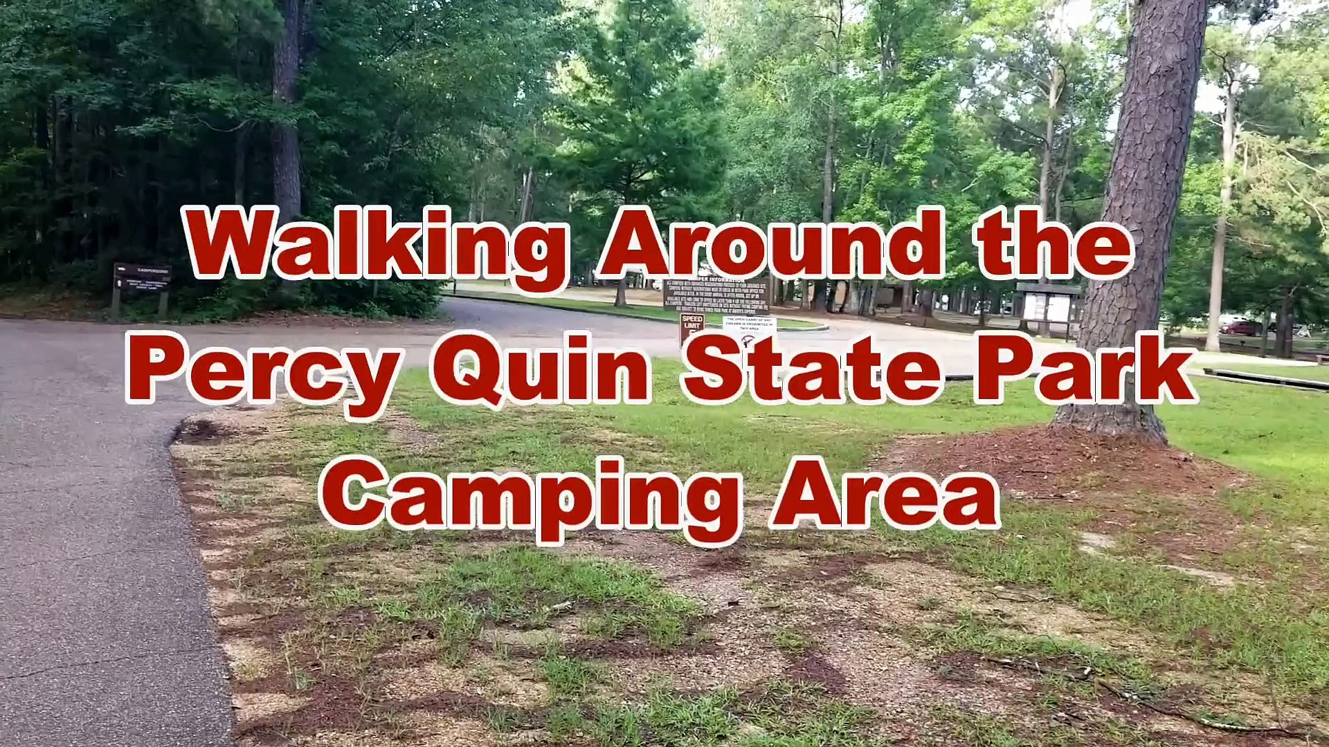 Walking Around The Percy Quin Main Campground In Mccomb Mississippi