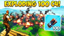 EXPLODING 100 C4! - What Happens - Fortnite Funny Fails and WTF Moments! - 222 (Daily Moments)