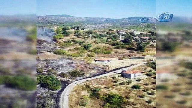Manavgat'ta 3 hektar tarım arazisi ve atıl durumdaki bir ev yandı