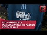 Lista medalla y playera de la Medio Maratón CDMX 2017