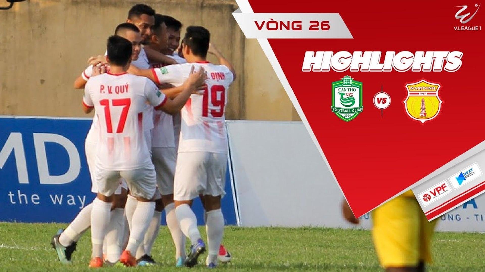Tiễn XSKT Cần Thơ xuống hạng, Nam Định giành suất play-off trụ hạng V-League 2018 - VPF Media