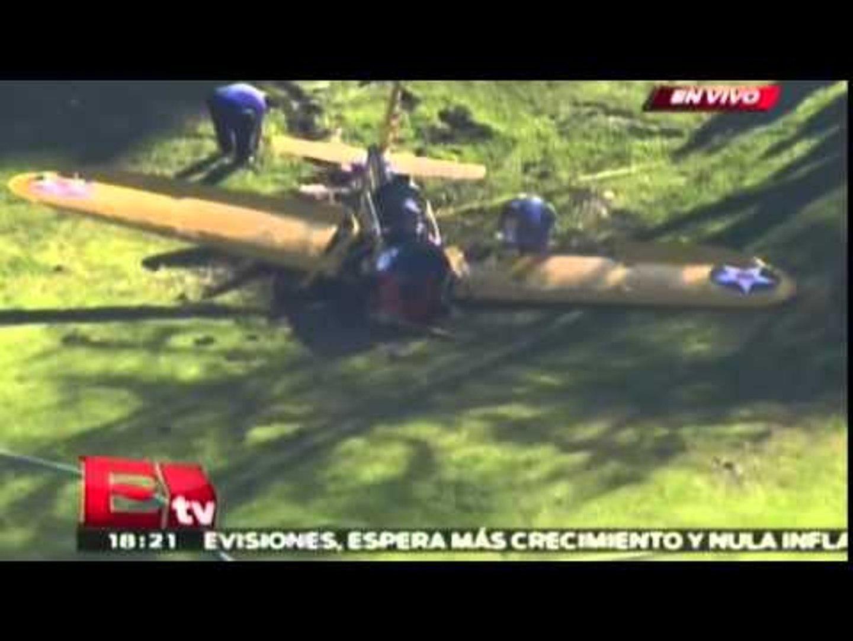 Cae la avioneta de Harrison Ford en Los Ángeles / Harrison Ford plane crash