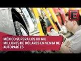 Venta de autopartes en México rompe récord