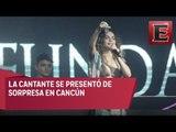 Belinda canta Sapito y ¿estaba borracha?