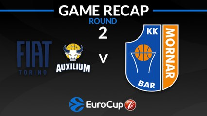 7Days EuroCup Highlights Regular Season, Round 2: Fiat Turin 80-84 Mornar Bar