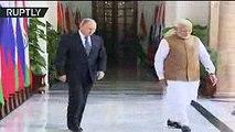 Handshakes & hugs Modi welcomes Putin in India