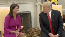 Trump Announces Nikki Haley Leaving And Hopes She'll Be Back