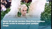 Katy Perry met sa carrière en pause !