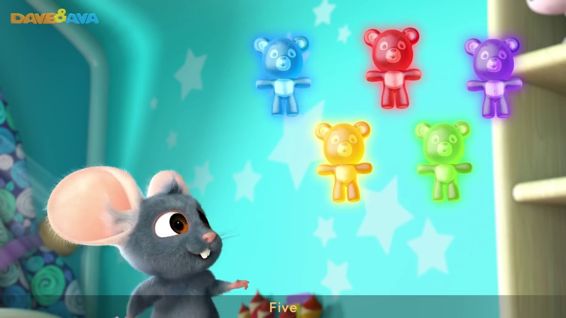 Five Little Gummy Bears   Learn to Count Five Little Gummy Bears with Dave and Ava
