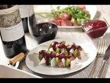 Brochetas de res con salsa de frutos negros - Callejo - Beef kebab - Recetas de cocina