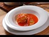 Chayotes rellenos en caldillo - Stuffed chayotes - Recetas de verduras