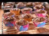 Cupcakes de chocolate rellenos de frambuesa y chocolate blanco - Chocolate cupcakes