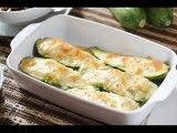 Calabacitas rellenas horneadas - Stuffed zucchini - Recetas de vegetales - Como cocinar