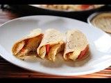 Tacos de fajitas de pollo con chile morrón - Receta fácil de preparar