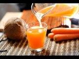 Agua de coco y zanahoria - Receta fácil de preparar