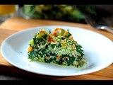 Pastel de arroz con espinacas - Receta fácil sin carne
