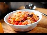 Fideos con camarones y pulpo - Receta con mariscos