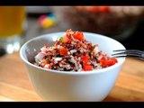 Ensalada de arroz salvaje con quinoa - Receta saludable