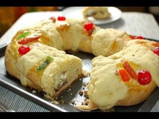 Receta de rosca de reyes rellena de queso crema