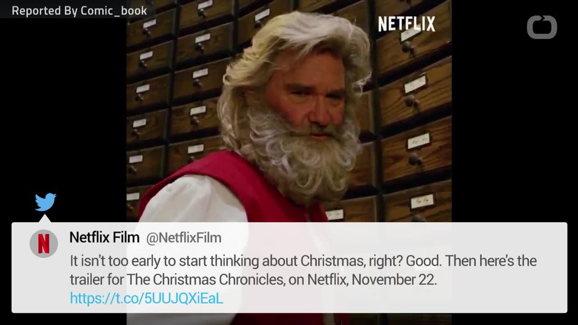 The Christmas Chronicles Trailer.Kurt Russell Becomes Santa For New Netflix Christmas Movie