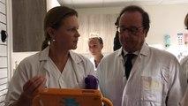 François Hollande à l'hôpital Rennes sud