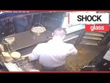 Spooky Moment Glass Mysteriously Slides Off Restaurant Shelf | SWNS TV