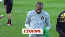 Thierry Henry à l'entraînement des Diables Rouges - Foot - BEL