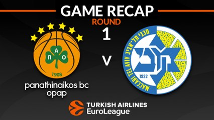 EuroLeague 2018-19 Highlights Regular Season Round 1 video: Panathinaikos 89-84 Maccabi