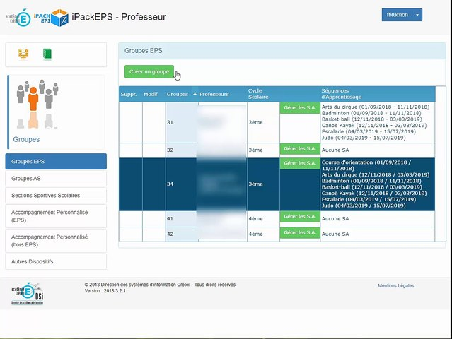 iPackEPS - Configuration des Groupes