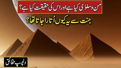 Mann and Salwa   Man o Salwa Islamic History