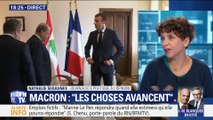 """Emmanuel Macron: """"Les choses avancent"""""""