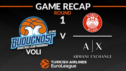 EuroLeague 2018-19 Highlights Regular Season Round 1 video: Buducnost 71-82 AX Milan