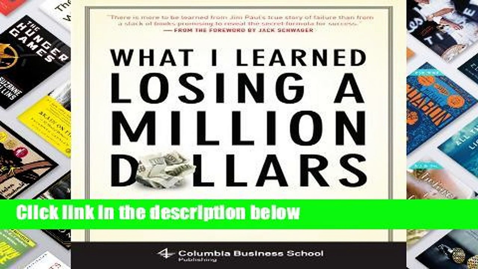 [P.D.F D.O.W.N.L.O.A.D] What I Learned Losing a Million Dollars (Columbia Business School