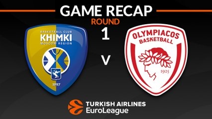 EuroLeague 2018-19 Highlights Regular Season Round 1 video: Khimki 66-87 Olympiacos
